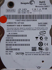 Seagate ST980811AS / 9S1132-070 / 3.CLF / WU / 100398689 REV C - 80 GB Hard Disk