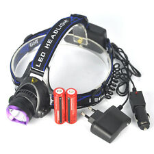 2500Lm XM-L T6 LED Headlamp Linterna Frontal  Luz Cabeza 2X18650+EU/Car Cargador
