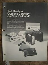 Vintage Original 1984 Fleetrite Over the counter & On The Road Flyer