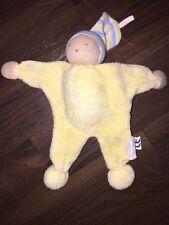 Schmusetuch Kuscheltuch Gelb Bunt Mütze Gestreift Frottee Puppe Alana dm Waldorf