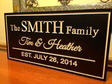 Family Name Sign, Marriage Sign Custom Wedding Gift Custom Wood Sign Carved Sign