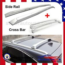 12-16 Honda CRV Roof Rack Side Rail+Cross Bars Silver to OEM Factory Hole Mount