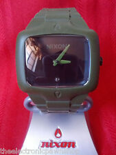 "Nixon ""The Rubber Player"" (Army) 100M Custom Silicone Miyota Japanese Movement"