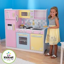 Kidkraft Deluxe Pastel Kitchen, Kids Wooden Toy Play Kitchen