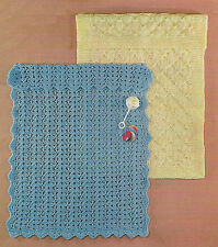 Baby Chunky Blanket Crochet and Knitting Pattern 845