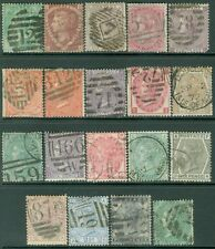 GREAT BRITAIN : Choice group of 19 different values. Fresh & VF, Used. Cat £2065