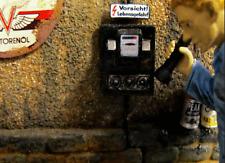 Zähler Bakelit Stromzähler Antik 1/18 Diorama Werkstatt Garage Deko Zubehör
