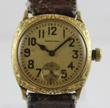 Vintage Waltham Art Deco Cushion 15 Jewels Men's Wrist Watch LOT#117