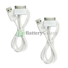 2 White USB Sync Battery Charger Cable for Samsung Galaxy Tab Tablet 2 Plus 7.0""