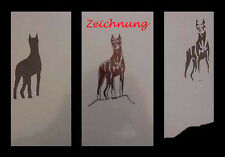 Airbrush Schablone Step by Step 174 Dobermann
