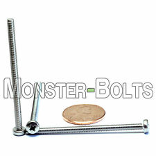 M3 x 50mm - Qty 10 - Stainless Steel Phillips Pan Head Machine Screws DIN 7985 A