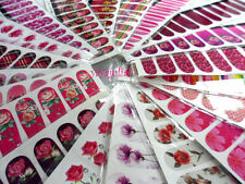 80 Sheets Nail Art Decal Stickers Water Slide Tattoo Transfer Random Full Size