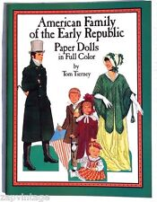 Vtg NEW 1988 American Family Early Republic Paper Dolls Tom Tierny Dover Book