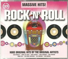 MASSIVE HITS! ROCK 'N' ROLL - 3 CD BOX SET - ORIGNAL ARTISTS - ELVIS & MORE