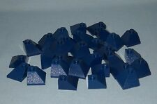 ****30 NEW DARK BLUE LEGO 45 2 X 2 DOUBLE CONVEX SLOPE PIECES, ROOF PIECES****