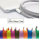 LOT BRAIDED LIGHTNING Sync Data Cable USB Charger for iPhone 6 6S Plus 5 5S 5c