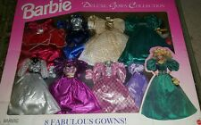 Barbie Deluxe Gown Fashion Collection 8 Evening Gowns Retired 1995 NEW Mattel