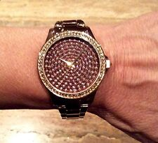 """LIMITED EDITION COUTURE WATCHES BY ADRIENNE"" BRONZE SWAROVSKI BRACELET WATCH"