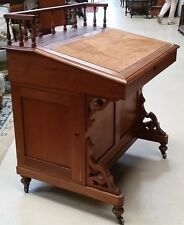 Antique American Walnut Davenport Slant Front Desk Drawers Files on Sides 1800's