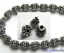 "6"" Strand Bali Sterling Silver 4x3mm Bead Caps  765"