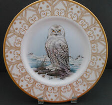 BOEHM Porcelain Collector Plate Edward Marshall Snowy Owl Limited Edition 15K OB