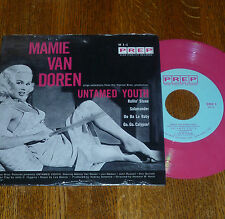 * * MAMIE VAN DOREN's SIZZLIN UNTAMED YOUTH! UNPLAYED MINT PINK VINYL EP/PIC SLV