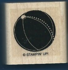 BEACH BALL Kids Summer Toy Stampin' Up! Wood Mount Craft Sport RUBBER STAMP