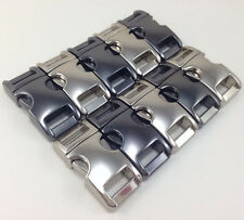 "10 3/8"" Metal side release buckles for paracord bracelets 2 Color top curve USA"