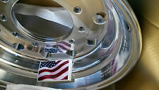U010 22.5 x 12.25 Forged Aluminum Truck Wheels with Rear Polished 822622 29378