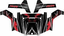 POLARIS RZR 800 UTV SIDE x SIDE Graphics Decal Kit 2011 2013 Liquid Silver Red