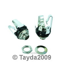 "6.35mm 1/4"" Stereo Chassis Socket / Jack 3 Terminals"