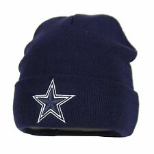 Dallas Cowboys NFL Basic Cuffed Winter Knit Beanie (Navy Blue)
