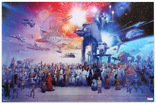 STAR WARS -GALAXY 24X36 POSTER WALL ART SPACE FANTASY MOVIE FILM ICONIC FUN COOL