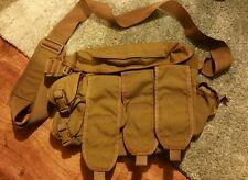 British Army Ammo Ammunition Grab Bag Trials Tan ( pre mtp man bag webbing )
