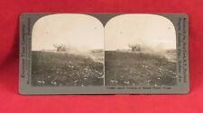 Vintage Keystone Stereoview Card of WW I Shelling of French City