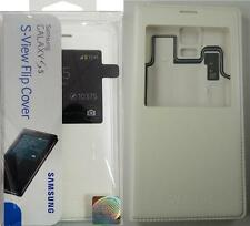 NEW OEM Original Genuine Samsung S-View Flip Cover Case White Case for Galaxy S5