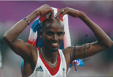 Mo FARAH Autograph 12x8 Signed Photo AFTAL COA London Olympics 2012 Gold Medal
