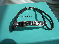 "TIFFANY & CO. ""ATLAS"" COLLECTION STERLING & ENAMEL BRACELET!!!"