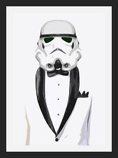 STORMTROOPER STAR WARS SUIT A3 POSTER ART PRINT - LIMITED EDITION OF 100