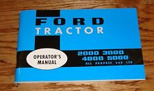 1965-1975 Ford Tractor Owners Operators Manual 65 75 2000 3000 4000 5000