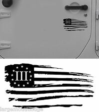 6 INCH SM 3 PERCENTER NYBERG FLAG DOOR DECAL WILLYS VINYL STICKER FORD CHEVY