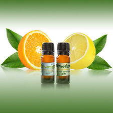 100% PURE ESSENTIAL OIL..  WILD ORANGE & LEMONGRASS... 2 BOTTLES OF 10ml