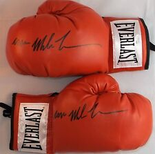 Iron Mike Tyson Signed Autographed Red Everlast Boxing Gloves JSA Authentic Pair