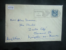 Switzerland 1948 Cover To England Hotel Reber Au Lac (SG 494) Cover