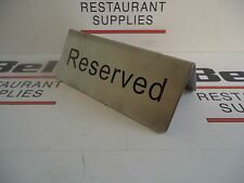 """*NEW* UPDATE RES-5/SS STAINLESS """"RESERVED"""" SIGN - RESTAURANT TABLE RESERVATION"""