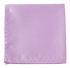 New Men's Polyester pocket square hankie only lilac prom wedding