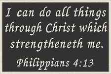 PHILIPPIANS 4:13 Christian  Patch With VELCRO® Brand Fastener Emblem