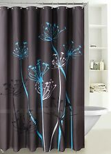 "1 LINDA GREY WATER REPELLENT FABRIC BATHROOM BATH SHOWER CURTAIN 72"" X 72"""