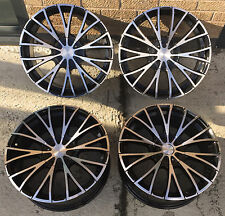 "18""  GLOSS BLACK POLISHED FACE  ALLOY WHEELS JAGUAR X TYPE 5X108"