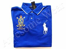 New Ralph Lauren Polo Custom Fit 100% Cotton Blue Big Pony Crested Shirt sz XXL